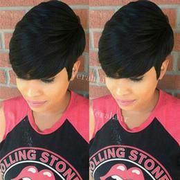 $enCountryForm.capitalKeyWord Australia - Bob New Human Hair Wig Short Pixie Cut Wig Ladies Black Short Cut Wigs For Black Women African Hair Cut Style Hot Sale