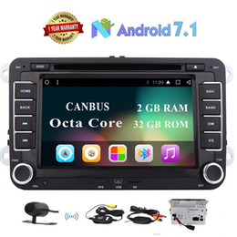 car dvd player vw jetta Canada - Car Stereo 7'' 8 Core GPS car DVD Double Din In Dash Sat Navigation Vehicle Head Unit for VW Volkswagen Jetta Golf Passat