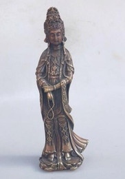Wood Art Sculpture Australia - Chinese classical beauty woman brass statue Chinese hand-made people sculpture home metal crafts Feng Shui Decoration