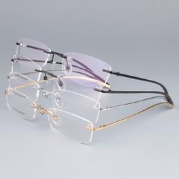 $enCountryForm.capitalKeyWord NZ - EYELOOK Myopia Frame Business Pure Titanium Rimless Ultra-light for Men Reading Optical Eyewear BR1028