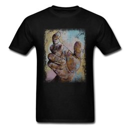 ZOMBIE HAND 2018 Art Design Men T-shirt Canvas Oil Painting Printed Male Short Sleeve Tee Black Tops
