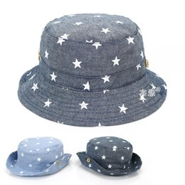 $enCountryForm.capitalKeyWord UK - Soft Cotton Summer Baby Sun Hat Infant Boys Girls Bucket Hat Denim Cotton Toddler Kids Tractor Cap