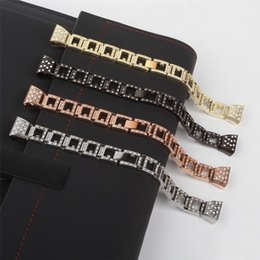 $enCountryForm.capitalKeyWord Australia - Free Shipping 10pcs Lot Fitbit Charge 2 HR Bands,Metal Stainless Replacement with Crystal Rhinestone Large & Small Watch Band Strap