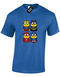 Discount flash superhero cartoon - SUPERHERO MINION MENS T-SHIRT FUNNY SUPER DESIGN FLASH MAN CUTE BAT MEME (COL) Cartoon t shirt men Unisex New