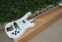 China Electric Guitar String Australia - Vicers Wholesale - 4 strings bass 4003 pure white electric bass guitar silver hardware China Guitar HOT SALE