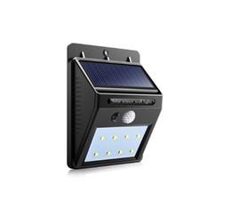 Impermeabile da esterno a parete LED Luce notturna solare PIR Motion Sensor Auto Swith Lampada solare Portico Path Street Fence Illuminazione da giardino