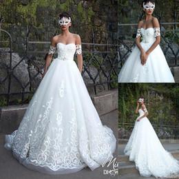 $enCountryForm.capitalKeyWord Australia - Luxury Beading Lace Applique Wedding Dresses Chapel Train with Short Sleeves Sweetheart Beaded Castle A Line Wedding Gown BC0288
