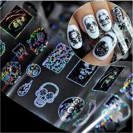[double_q] новый женский скелет Хэллоуин пвх наклейки для ногтей мода Красота продукты оптовые продажи 10 штук партии