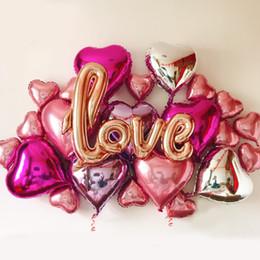diy balloons 2018 - Diy Foil Love Balloons Kit Wedding Decoration Engagement Party Wedding Centerpieces Bachelorette Party Bridal Shower Dec