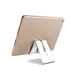 Universal cell phone desk holder online shopping - 2018 Universal Aluminum Metal Mobile Phone Tablet Holder Desk Stand for cell phone with Retail package