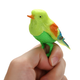 singing birds toys UK - Plastic Sound Voice Control Activate Chirping Singing Bird Funny Toy Gift Random Color