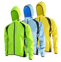Venta al por mayor de Al por mayor-2017 Transpirable a prueba de viento Running Jacket Ciclismo impermeable de la lluvia de la lluvia del abrigo de la bici de las mujeres para hombre Ciclismo rompevientos Jerseys