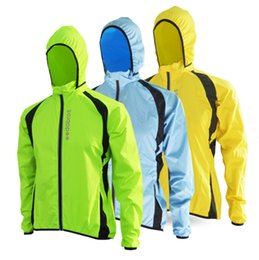 Chinese  Wholesale- 2017 Breathable Windproof Running Jacket Cycling Raincoat Bicycle Rain Coat Bike Mens Women Cycling Windbreaker Jerseys manufacturers