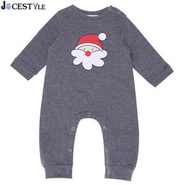 4937ae1784efb New Year Baby Romper Newborn Baby Long Sleeve Santa Head Jumpsuit Cotton Christmas  Costume Outfit Infant Girl Boy Romper Outfit Y18102907