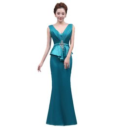 83dd97822c8 Diamonds silk Voile V-Neck 2018 New Women s Elegant Long Gown Party Prom  For Gratuating Date Ceremony Gala Evening Dresses A24
