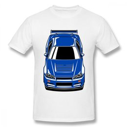 $enCountryForm.capitalKeyWord UK - High - Q Skyline R34 Gt - R Blue Race Car T Shirt Pure Cotton For Man Free Shipping Man Crewneck Short Sleeve T Shirt
