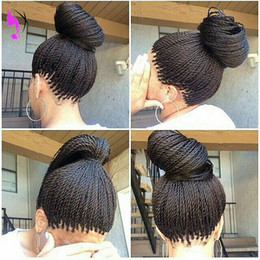 Braids senegalese hair online shopping - High quality full Senegalese X Twist Braids Wig Synthetic Afro Twisted Hair Heat Resistant Braiding Lace Front Wig For Black Women