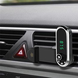 Hands Free Bluetooth FM-передатчик автомобильный комплект MP3 Air vent Holder Stand charge Car Bluetooth Wireless высокое качество