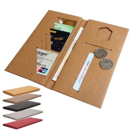Wholesale washable kraft paper wallet eco freindly recycle notecase case burse change pouch card holder accept OEM order