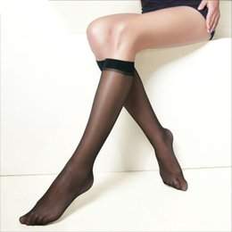 30e262955a2 10 Pairs Pack Hot Basal Silk Knee High Socks 20d 40d 70d Elastic Ultra  -Thin Transparent Nylon Half Stocking
