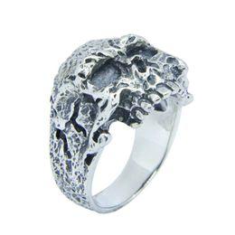 Men Size 15 Rings Australia - 1pc Free Shipping Size 7-15 Men Boys 925 Sterling Silver Cool Skull Ring Jewelry S925 Demon Skull Ring