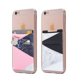 Discount cell phone cases stickers - 2018 Wholesale Double pocket 3m Adhesive Sticker Cell Phone Credit Card Holder, Wallet Phone case lycra Stick-On Card Ho