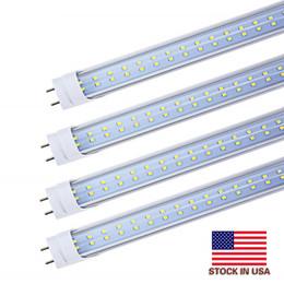 Venta al por mayor de Stock en EE. UU. + Tubo led de 4 pies 22W 25W 28W Blanco cálido cálido 1200mm 4 pies SMD2835 192pcs Bombillas fluorescentes led súper brillantes AC85-265V UL