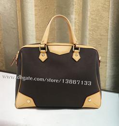 $enCountryForm.capitalKeyWord Canada - Classic Style Canvas Leather travel Bag 40325 Retiro Tote Women Handbag Shoulder Bag with Belt High Quality