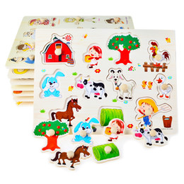$enCountryForm.capitalKeyWord NZ - Hand Grasp Knob Pegged Puzzle Wooden Quality Numbers Animals Fruits Vegetable Characters Letter Cognitive Board Children Toys Mix 2 sets