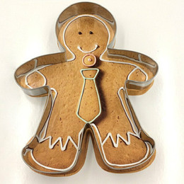 metal baking shapes Canada - High Quality Metal Alloy Gingerbread Men Shaped Holiday Baking Biscuit Cookie Cutter Mold Decorating Tools