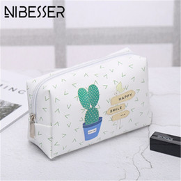 Watermelon Cosmetic Bags Cases Australia - NIBESSER 2019 Cosmetic Bags Cactus Makeup Bag Women Travel Organizer Storage Brush Necessaries Make Up Case Beauty Toiletry Bag
