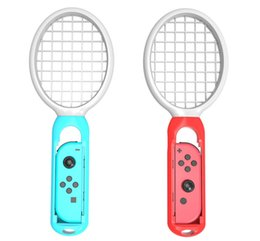 game joy 2019 - 1 pair Tennis Racket Handle for Nintend Switch Joy-con TV game console for Ma rio Tennis ACE Games Game Accessories whol
