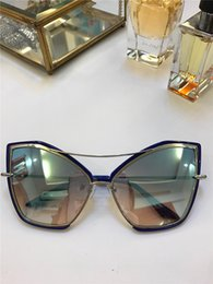 Discount gold rimless designer glasses - CREATURE Cat Eye Grey Gold Silver Sunglasses des lunettes de soleil designer luxury glasses Shades New with box