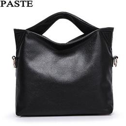 Handbags Blue Canada - PASTE Russia Genuine Leather Women Tote Bag High Quality Female Handbag Lady Red Blue Black Beige Shoulder Bag For Shopping Work