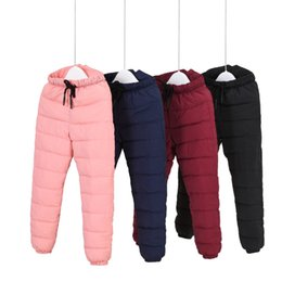 Chinese  2018 Winter High Waist Boys Pants Thermal Kids Trousers Warm Thicken Girls Down Cotton Pant Windproof Waterproof Pants manufacturers