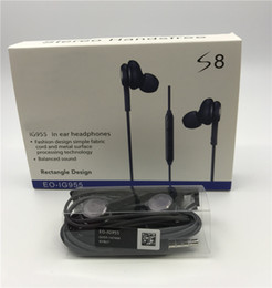 $enCountryForm.capitalKeyWord Australia - For S8 Earphones Headphones 3.5mm Wired Stereo Headset In-Ear Earphone Earbuds with Mic With Retail Package Box For Samsung S8 S8 plus