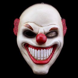 payday masks 2019 - Halloween Payday 2 Collector's Edition Game Harvest Day 2 Red Nose Clown Resin Material Mask Male Cosplay Man Show