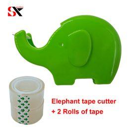 Cute Cutter Australia - Cute Simple Cartoon Elephant small tape cutter adhesive tape Dispenser holder creative Sealing Device Machine Supplies