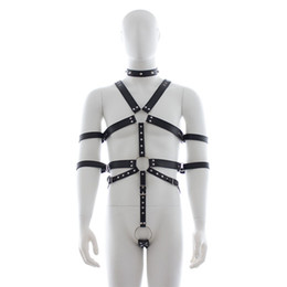 body restraint bdsm gear NZ - MaryXiong Sexy Body Harness Slave Fetish Wear Adult Game PU Leather Bondage Restraint Gear BDSM S&M Firting Sex Toys for Couples