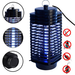 fly trap light Canada - Electronics Mosquito Killer Trap Moth Fly Wasp Led Night Lamp Bug Insect Light Black Killing Pest Zapper EU US Plug 110V 220V