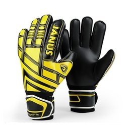 blue latex gloves 2019 - Brand Professional Goalkeeper Gloves Finger Protection Thickened Latex Soccer Football Goalie Gloves Goal Keeper Gloves