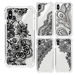 Chinese  For iPhone X 6 6S 7 8 Plus Xs Max Xr Samsung Galaxy S8 S9 Plus Note 8 9 Phone Case Shockproof TPU Lace Pattern Painted Silicone Cover Shell manufacturers