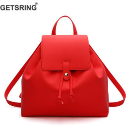 1ab3b7ea91 GETSRING Women Bag Women Backpack Shoulder Bags For 2018 Pu Black Fashion  Backpack Casual Vintage School Bags Simple Sexy