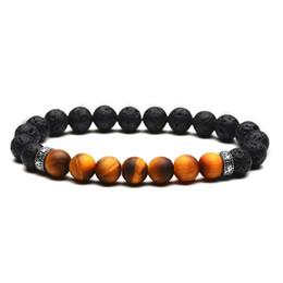 $enCountryForm.capitalKeyWord UK - Druzy Electroplating Buddha Beads Bracelet 8mm Natural Stone Scrub Tiger Eye Volcanic Lava Rock Stone Bracelet Yoga Healing