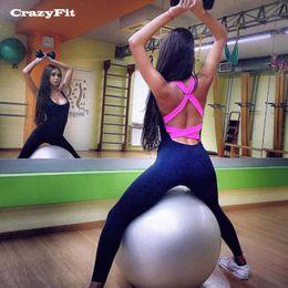 $enCountryForm.capitalKeyWord Canada - Wholesale- CrazyFit Sexy Running Sets Women 2017 Jogging Suit Training Gym Clothes Sportswear Sports Suite Compression Underwear Costume