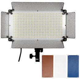 $enCountryForm.capitalKeyWord NZ - wholesale 500 LED Photo Studio Lighting Panel Diffuser 2 Color Filters(Orange and Blue) and 4 Dimmer Switch for Canon Nikon Pentax