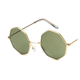4408d001824 New Polygon Sunglasses Women Men Brand Designer Vintage Sunglasses Gold  Clear Sun Glasses Sexy Couple Eyewear Small Shades
