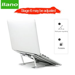 Macbook Aluminum Australia - Silver Aluminum Laptop Stand Tablet Stand Universal for Apple MacBook Air Pro 11-15 inches Folding Adjustable Office Notebook car