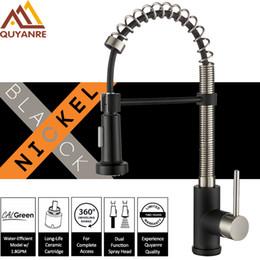$enCountryForm.capitalKeyWord NZ - wholesale Matte Black Nickel Spring Kitchen Faucet Pull Down Dual Way Spray 360 Rotation Single Level Mixer Kitchen Faucet Tap