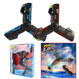 Discount plastic boomerangs - UFO Boomerang Aircraft Creative Mini Drone RC Quadcopter Remote Control Toy Rechargeable Flying Saucer With Flash Light